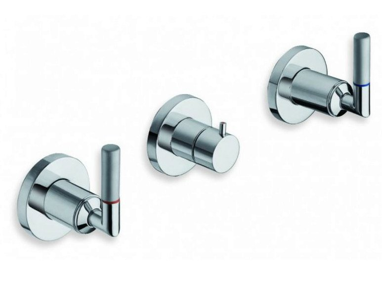3 hole wall-mounted chrome-plated bathtub tap PICCHE ELITE | Bathtub tap by CRISTINA