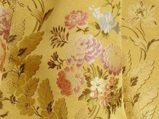Louis XV fabric with floral pattern POMPADOUR - LELIEVRE