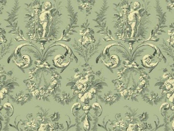 Louis XVI damask fabric TAILLE DOUCE - LELIEVRE
