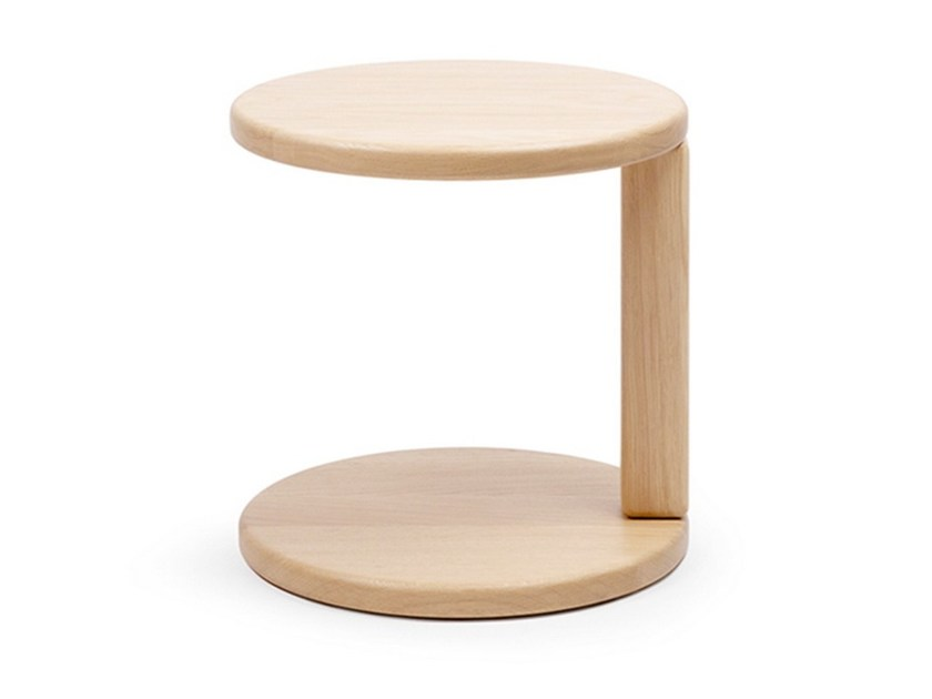 Oak side table ELEMENT CANTILEVER - OBJEKTEN
