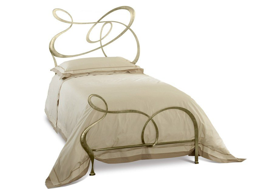 Iron single bed GHIRIGORI GEMELLARE | Single bed by Cantori
