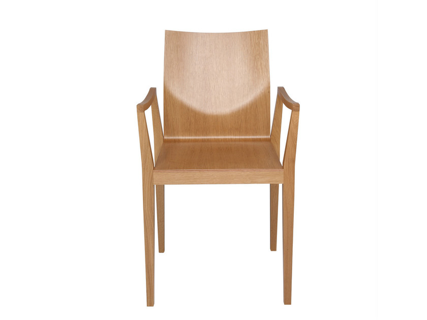 Ergonomic wooden chair with armrests CAPPL | Chair with armrests - KFF