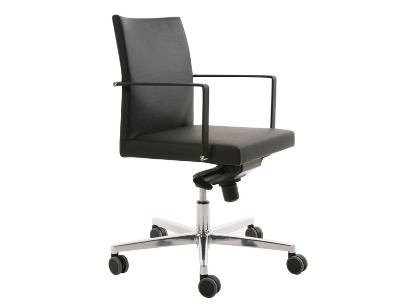 Height-adjustable task chair with 5-Spoke base with armrests FEEL | Task chair with 5-Spoke base by KFF