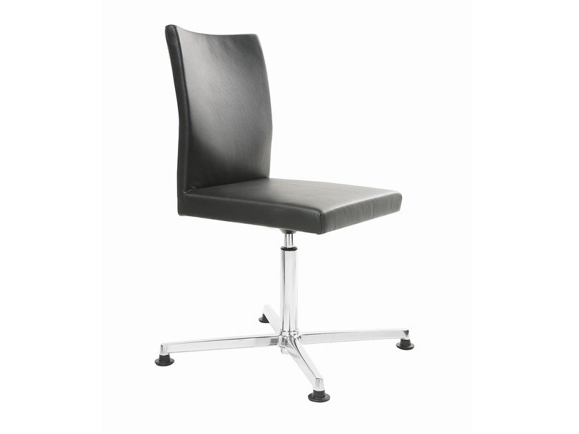 Leather task chair with 4-Spoke base FEEL | Task chair with 4-Spoke base - KFF
