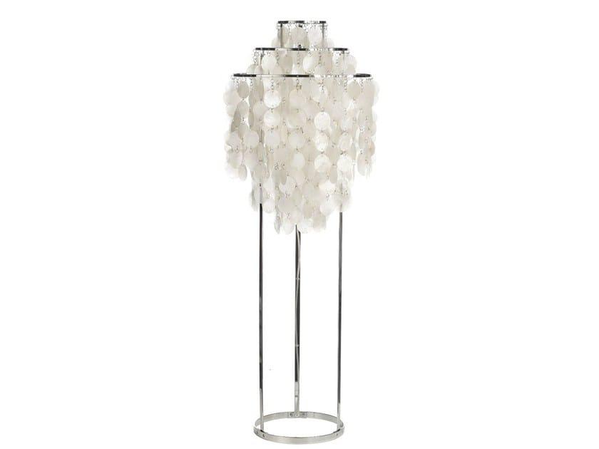mother of pearl floor lamp fun 1stm by verpan design verner panton. Black Bedroom Furniture Sets. Home Design Ideas