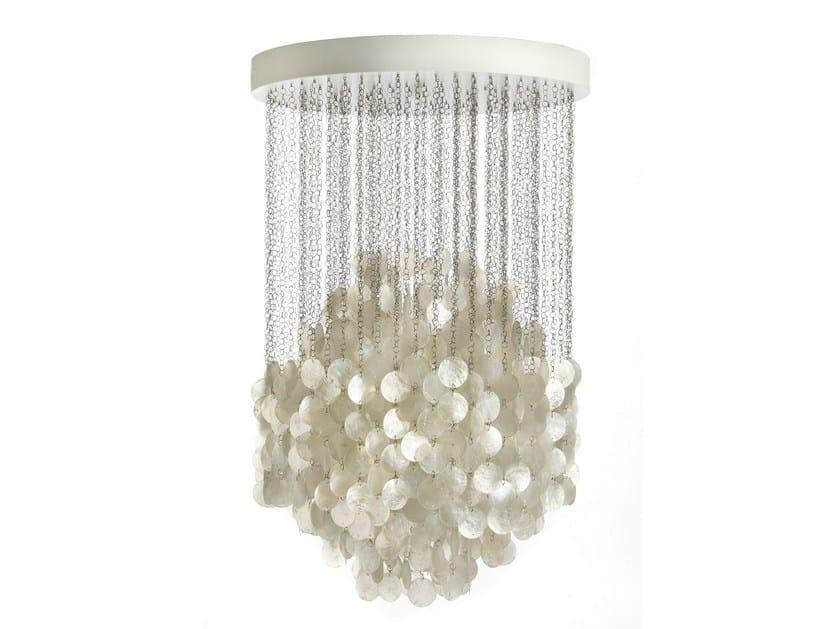 Mother of pearl pendant lamp FUN 4DM - Verpan