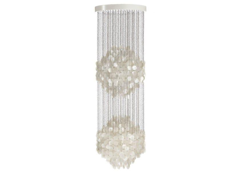 Mother of pearl pendant lamp FUN 5DM - Verpan