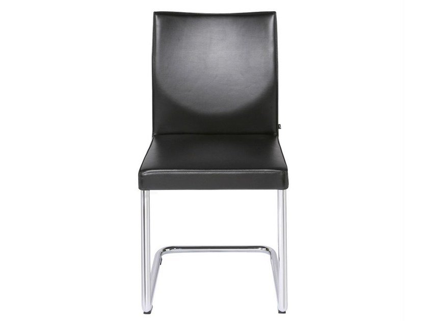 Cantilever upholstered leather chair GLOOH | Cantilever chair by KFF