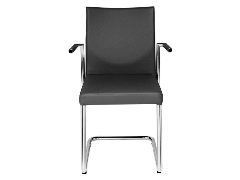 Cantilever upholstered chair with armrests GLOOH | Chair with armrests by KFF