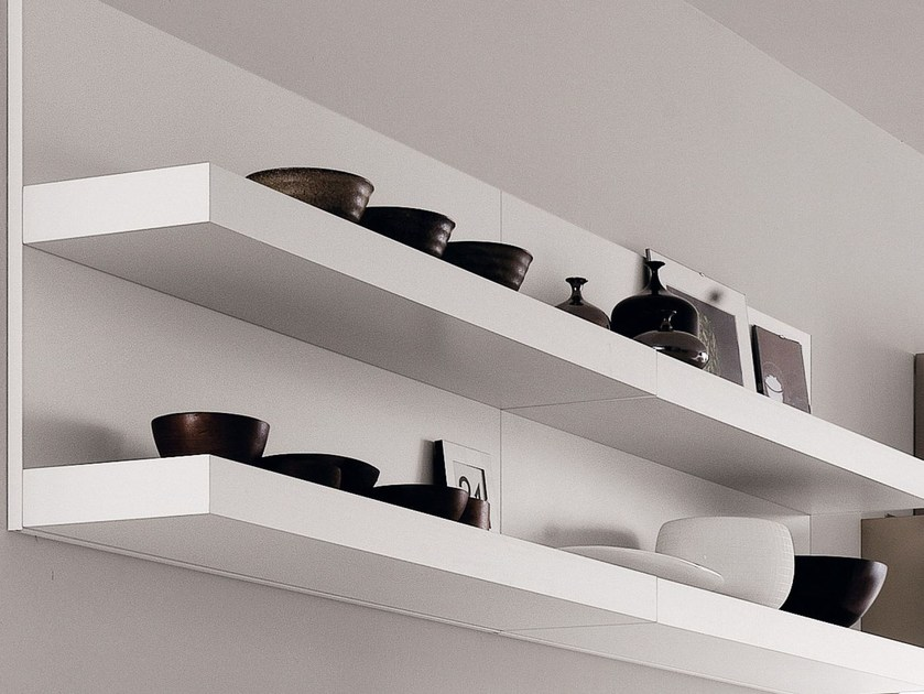 Wooden wall shelf SISTEMA75 - Euromobil