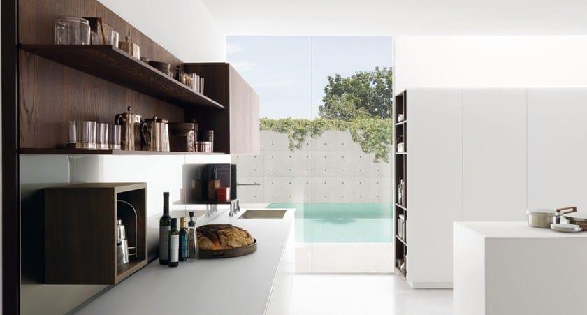 Parete attrezzata con mensole per cucine e living HORIZON - Euromobil