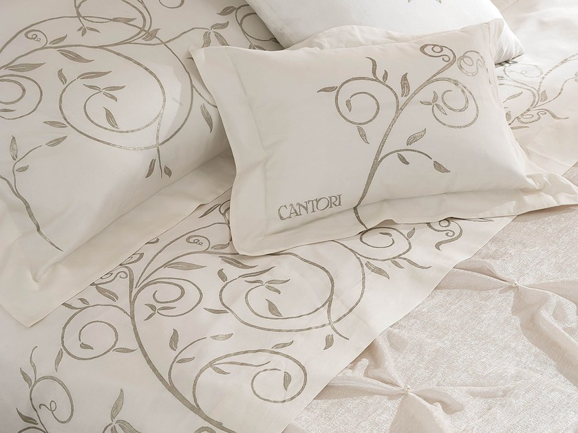 Printed bedding set with floral pattern LIBERTY - Cantori