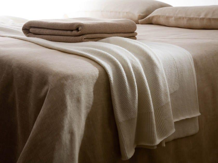 Solid-color wool lap robe GRANA RISO - Cantori
