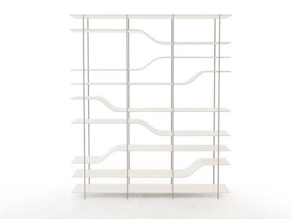 Open double-sided bookcase NETWORK MODULAR SHELF | Bookcase by VIDAME CREATION
