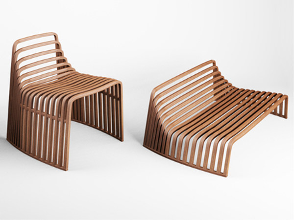 Wooden armchair Wooden armchair by VIDAME CREATION