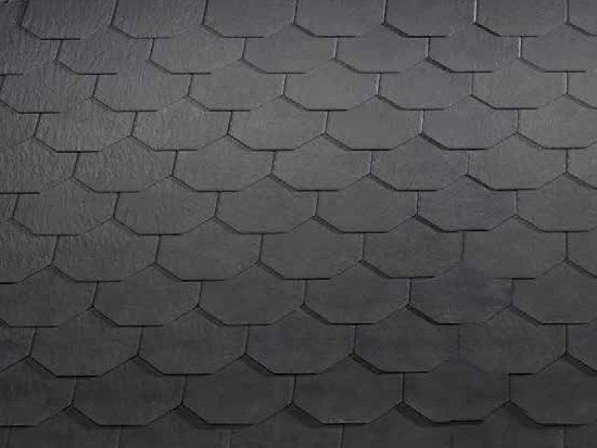 Roman and flat roof clay tile ARDESIA CERAMICA 25X40 EXAGONAL by ARDESIE CERAMICHE