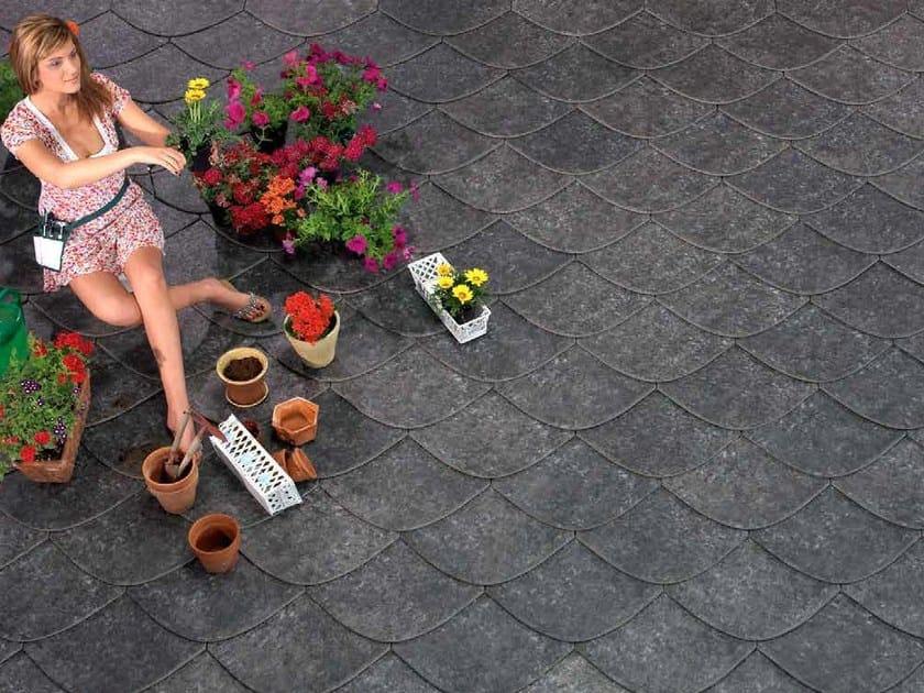 Ceramic slate pantile ARDESIA CERAMICA 45X45 LOSA - ARDESIE CERAMICHE
