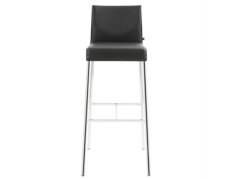 High upholstered leather stool GLOOH | Leather stool by KFF
