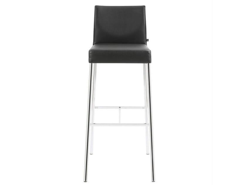 High upholstered leather stool GLOOH | Leather stool - KFF