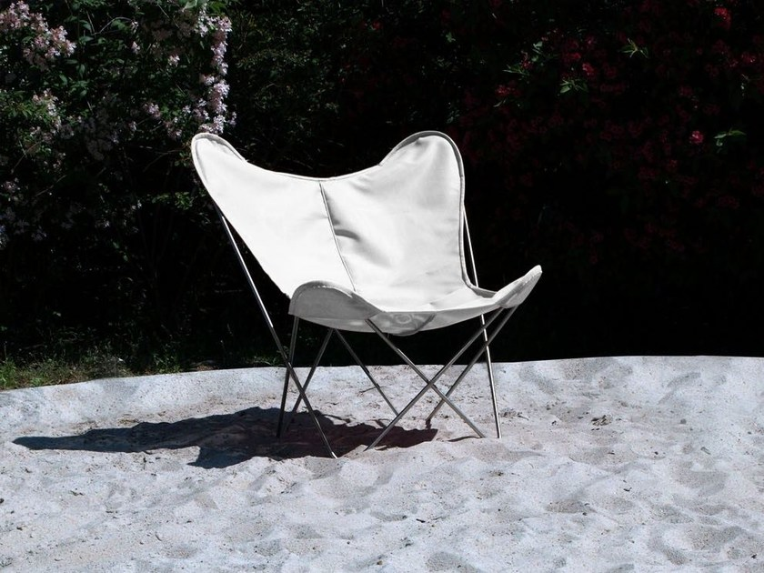 Garden armchair with removable cover HARDOY BUTTERFLY CHAIR OUTDOOR by WEINBAUM