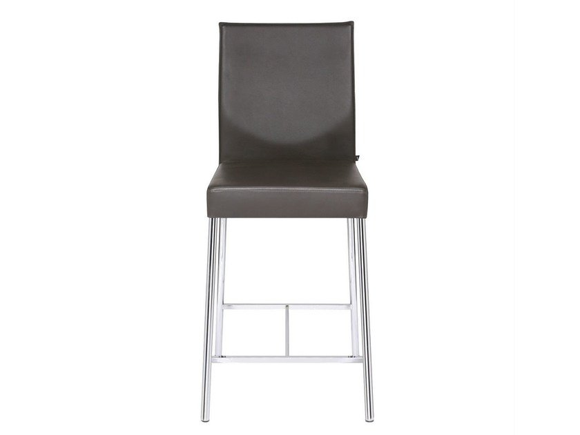 Upholstered leather counter stool GLOOH | Counter stool - KFF