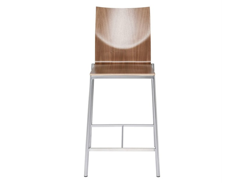 Multi-layer wood counter stool GLOOH | Multi-layer wood chair - KFF