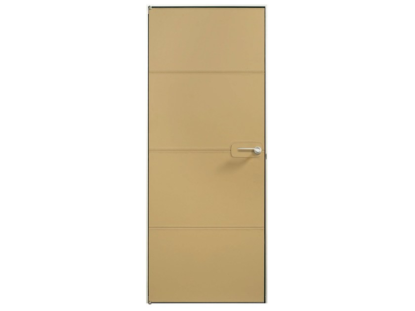 Flush-fitting tanned leather door PIA B - BARAUSSE