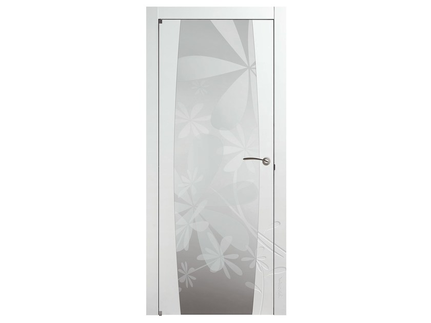 Hinged glass door FIORELLA O - BARAUSSE