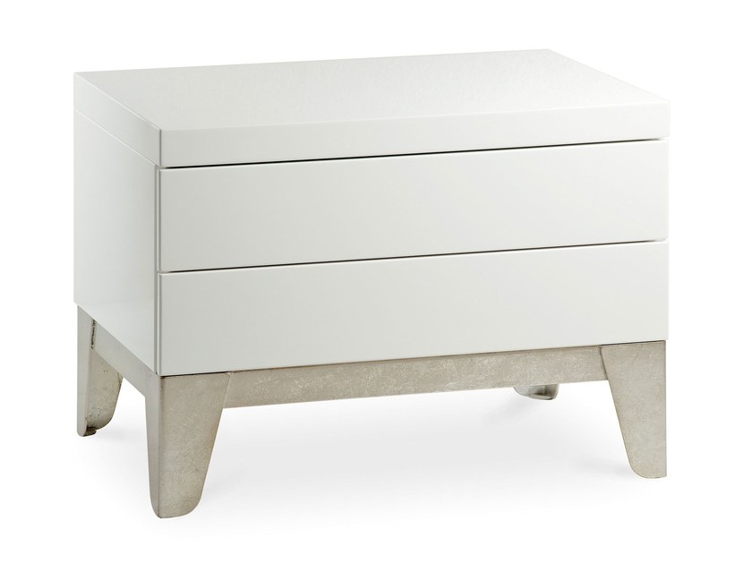 Wooden bedside table with drawers VESUVIO | Bedside table - Cantori