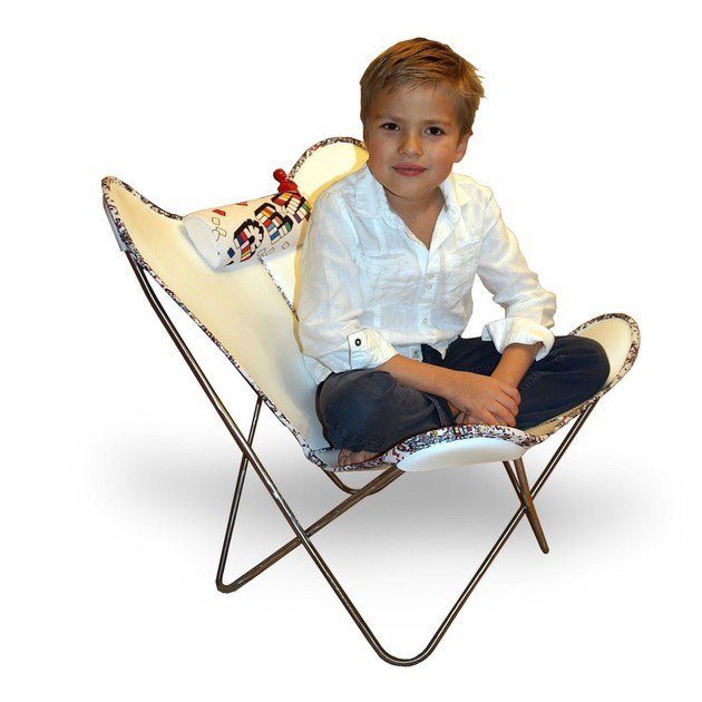 Leather kids armchair HARDOY BUTTERFLY CHAIR KIDS by WEINBAUM