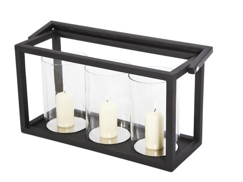 Wood and glass lantern TRIPLE - NORR11