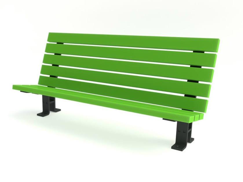 Steel Bench with back KAJEN LÅG - Nola Industrier
