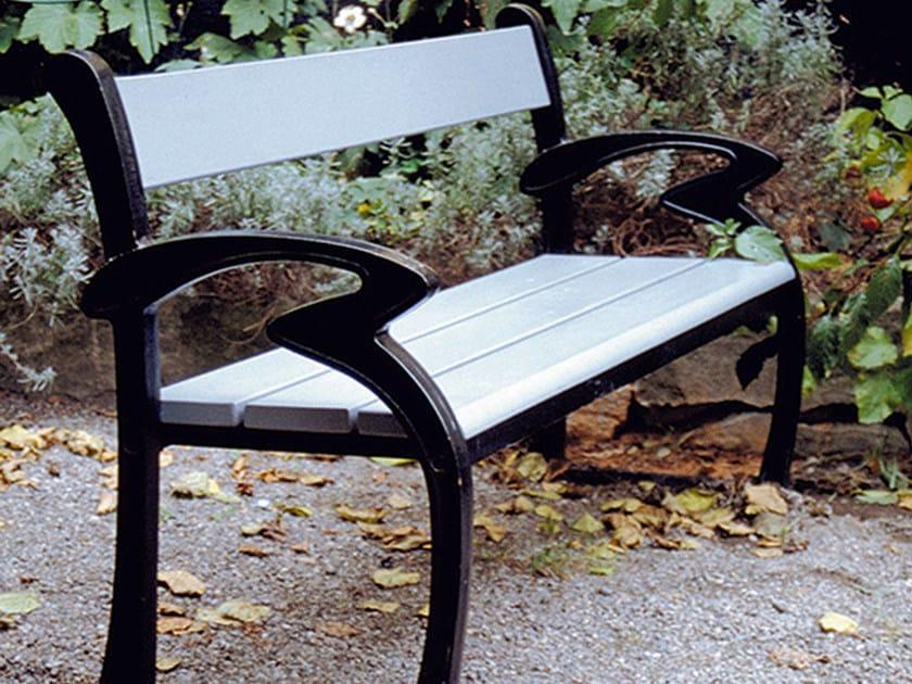 Wooden Bench with armrests KLARA by Nola Industrier