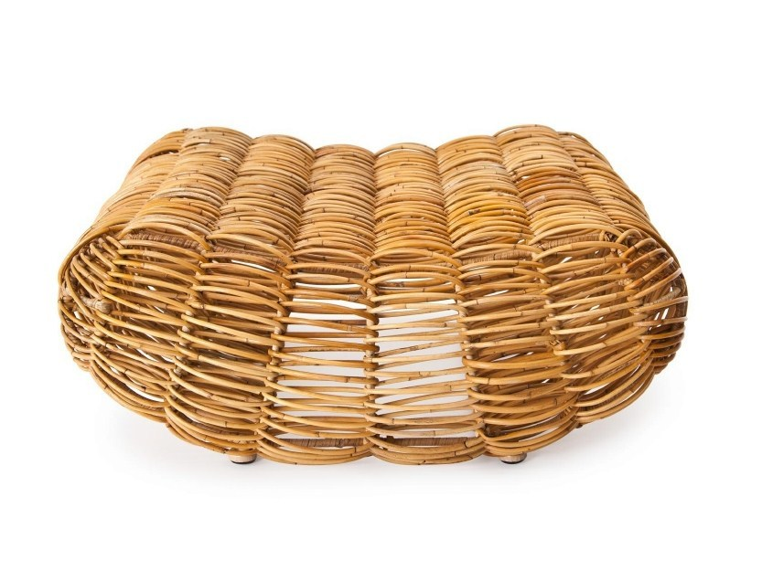 Rattan pouf / footstool MOBY - NORR11