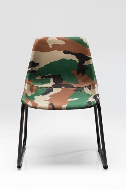 Cadeira de tecido estilo art déco ARMY | Cadeira - KARE-DESIGN