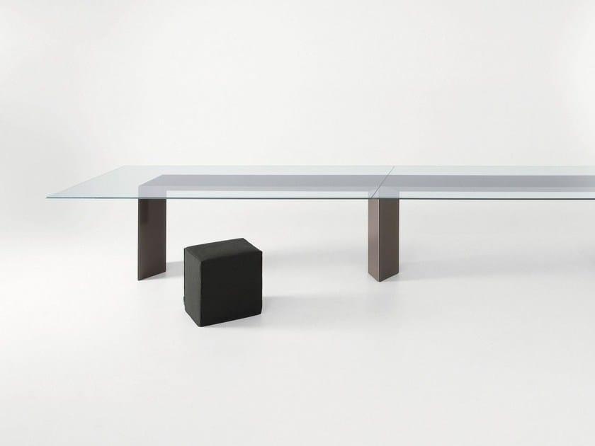 Scrivania tavolo in cristallo dolm gallotti radice - Tavoli gallotti e radice ...