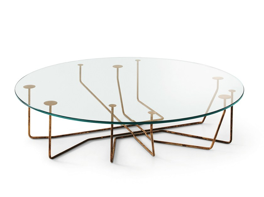 Round crystal coffee table CONNECTION - Gallotti&Radice