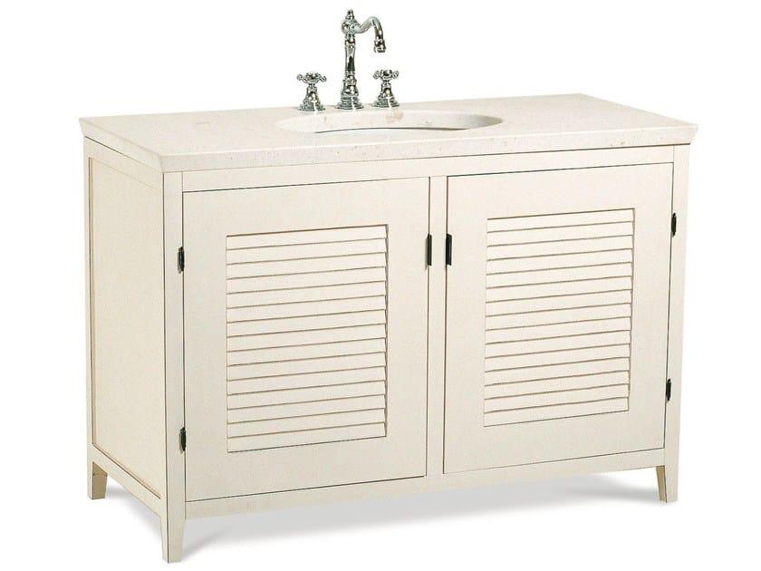Wooden vanity unit with doors CIRO | Vanity unit by Cantori