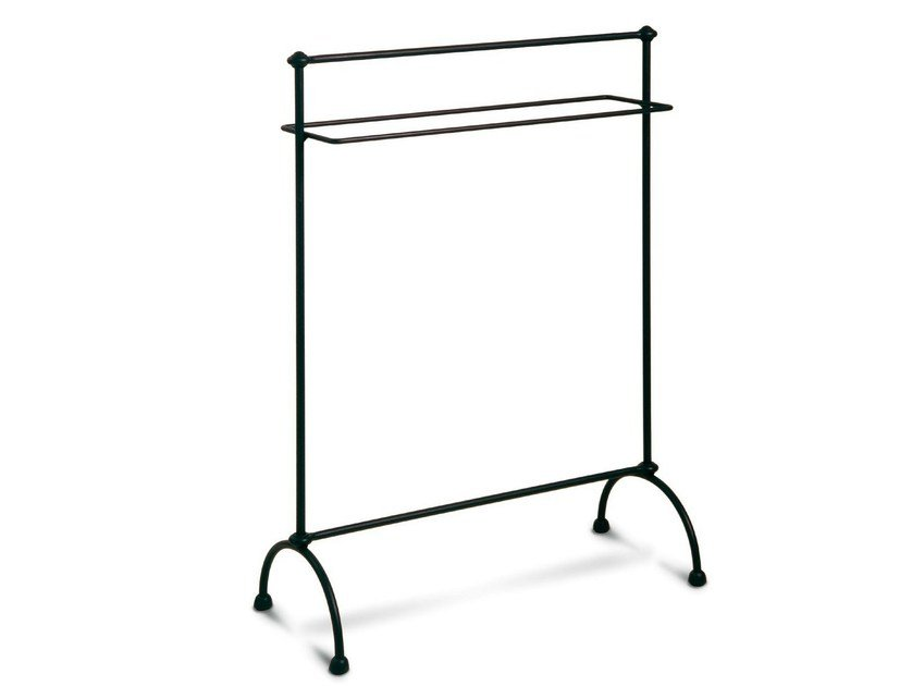Standing iron towel rack COLONNA by Cantori