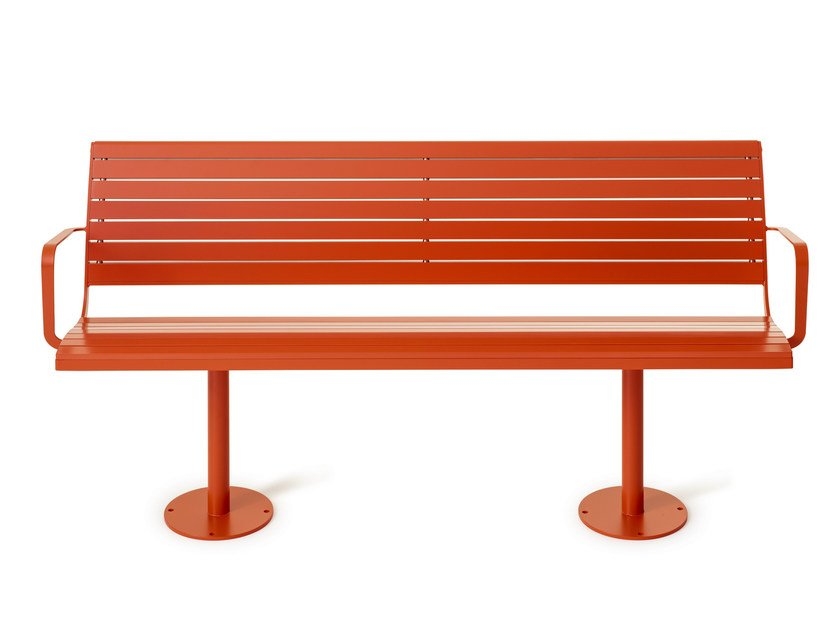Plate Bench with armrests PARCO | Bench - Nola Industrier