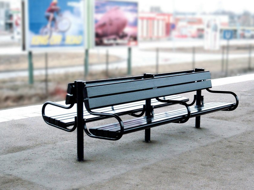 Steel Bench with armrests ROBUST - Nola Industrier