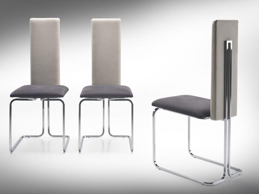 Upholstered high-back chair LINDA by F.lli Orsenigo