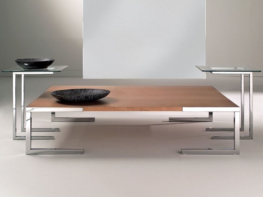 Square MDF coffee table TEMPURA | Coffee table - F.lli Orsenigo
