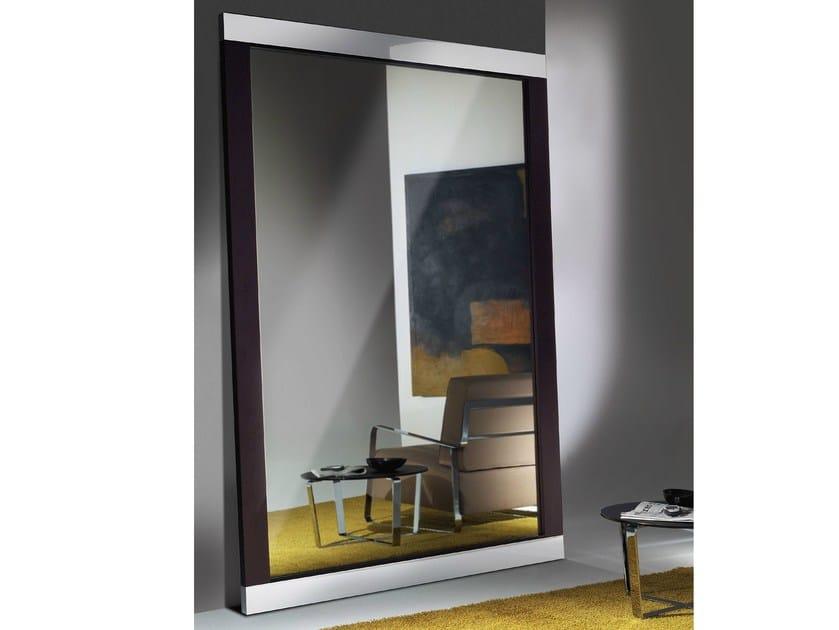 Freestanding rectangular mirror HADAKA by F.lli Orsenigo