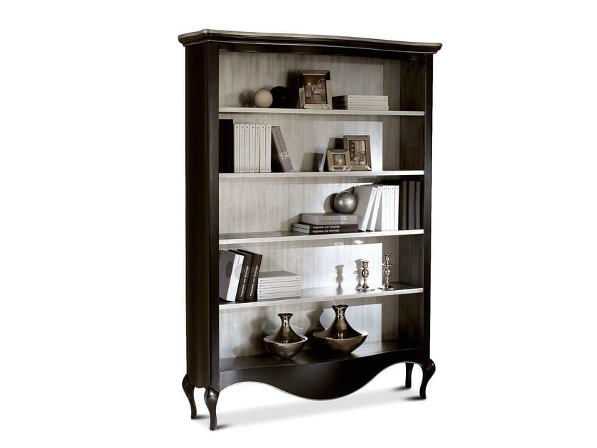 Wall-mounted wooden bookcase RAFFAELLO | Wooden bookcase - Cantori