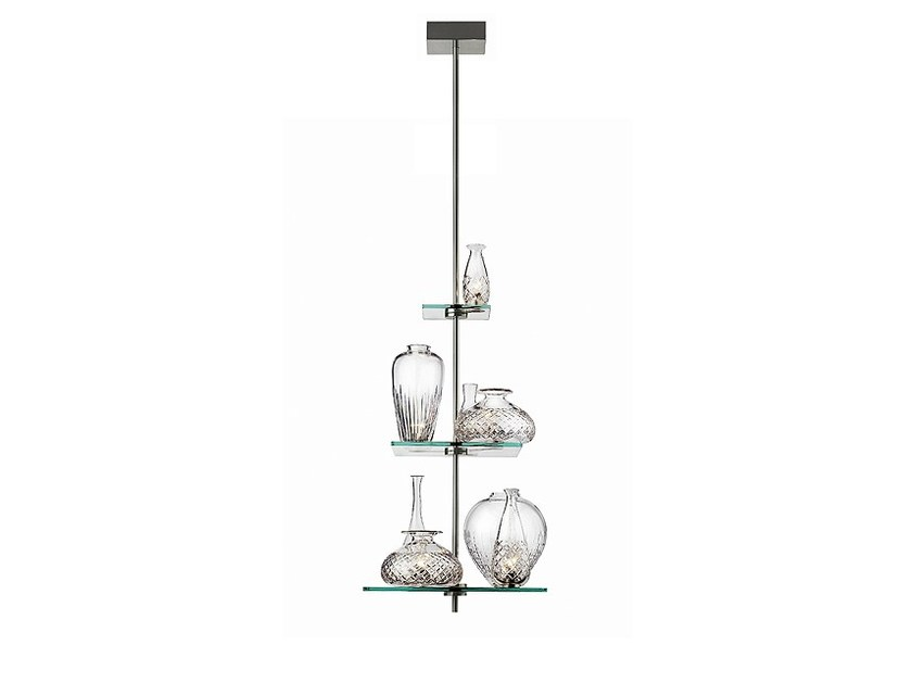 Crystal and steel pendant lamp CICATRICES DE LUXE - FLOS