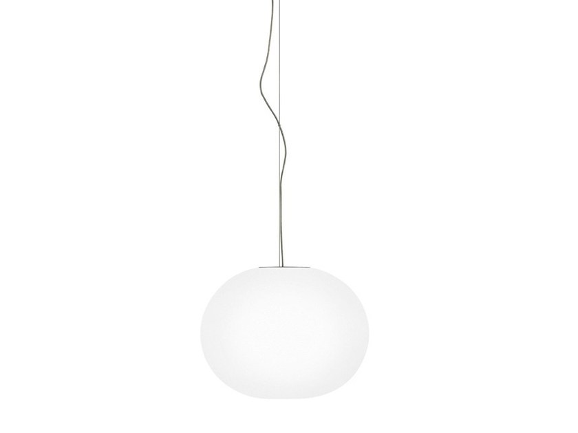 Opal glass pendant lamp GLO-BALL S by FLOS