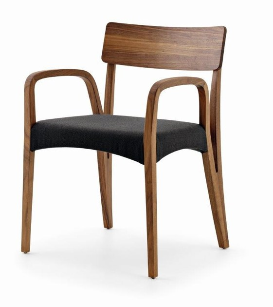 Wooden easy chair with armrests MORAAR | Easy chair with armrests - Passoni Nature