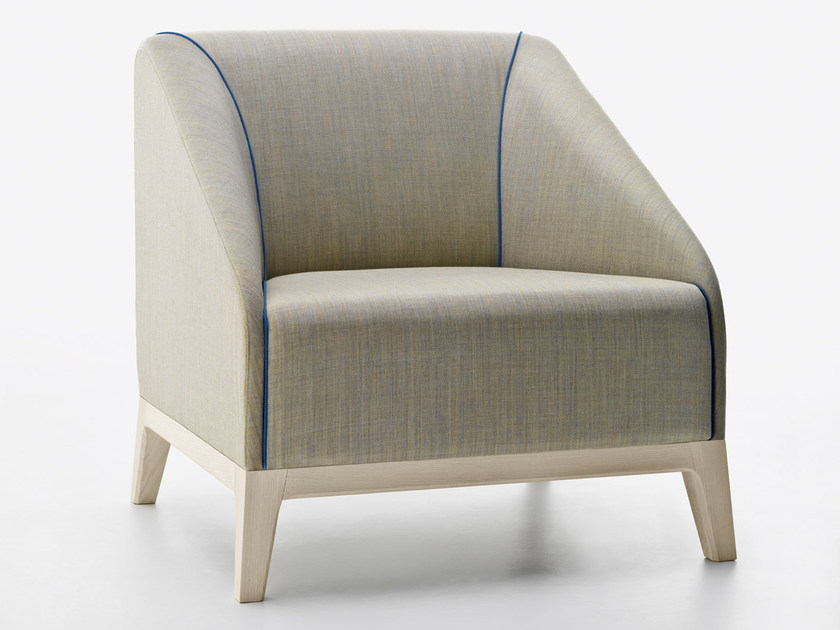 Upholstered armchair with armrests SLOW | Armchair - Passoni Nature