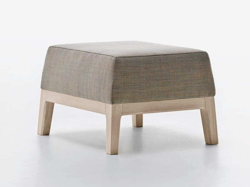 Upholstered fabric pouf SLOW | Pouf - Passoni Nature